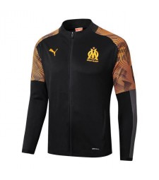 Olympique Marseille Black Long Zipper Soccer Jacket 2019-2020