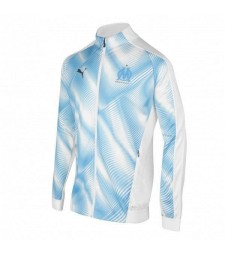 Olympique Marseille Blue White Soccer Jacket 2019-2020