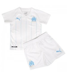 Olympique Marseille Home Football Kids Kit Jersey 2019-2020