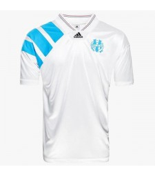 Olympique Marseille Home Retro Soccer Jersey Football Shirt 1992-1993