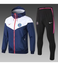 Paris Saint Germain White Blue Windrunner+Pant 2018/2019