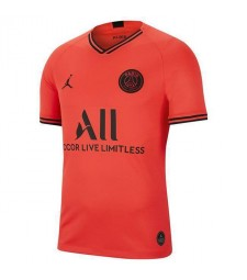 Jordan Paris-Saint Germain Away Red Soccer Jersey 2019-2020