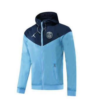 Paris Saint Germain Jordan Light Blue Royal Blue Soccer Windrunner 2020