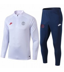 Paris Saint Germain White  Mens Training Tracksuit  2019-2020