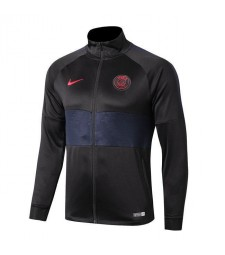 Paris Saint Germain Dark Grey Half Blue Turtleneck  Jacket 2019-2020