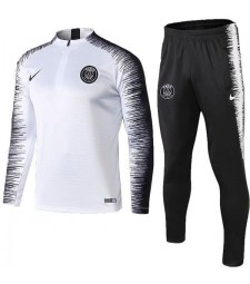 Paris Saint Germain White Printing Sleeve Tracksuit Soccer Training Jersey 2019-2020