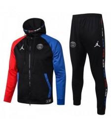 Jordan Paris Saint Germain Red-Black-Blue Kids Kit Football Hoodie Jacket Soccer Tracksuit 2020-2021