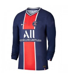 PSG Paris Saint Germain Home Long Sleeve Soccer Jersey Mens Football Shirt 2020-2021