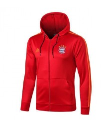 Bayern Munchen Long Zip Red Hoodie Jacket 2019-2020