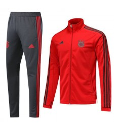 Bayern Munchen Red High Necked Tracksuit 2018/2019