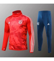 Bayern Munchen Red High Collar Camouflage Tracksuit 2019-2020