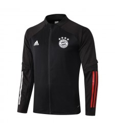 Bayern Munich Black Long Zipper Jacket Tracksuit Sportswear Training Wear 2020-2021