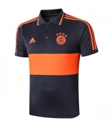 Bayern Munich Polo Jersey Football Training Kit Soccer Teal Sportwear T-shirt Navy Orange 2019-2020