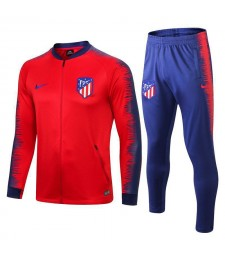 Atletico De Madrid Red Printed Sleeve Tracksuit 2018/2019