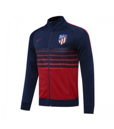 Atletico  Madrid Royal Blue And Red Colorblock Football Mens Soccer Jacket 2020-2021