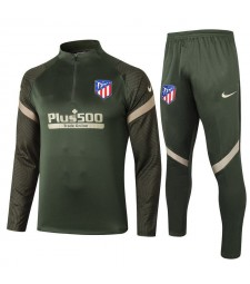 Atletico Madrid Army Green Soccer Football Tracksuit 2020-2021
