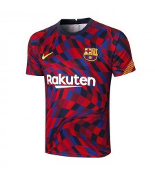 Barcelona Red-Blue Training Soccer Jerseys Mens Football Shirts 2020-2021