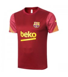 Barcelona Red Training Soccer Jerseys Mens Football Shirts 2020-2021