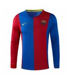 Barcelona Retro Long Sleeve Home Soccer Jerseys Mens Football Shirts Uniforms 2006-2007