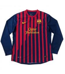 Barcelona Retro Long Sleeve Home Soccer Jerseys Mens Football Shirts Uniforms 2011-2012