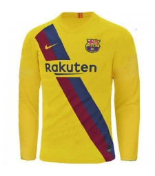 Barcelona Away Long Sleeve Jersey Mens Soccer Shirt 2019-2020