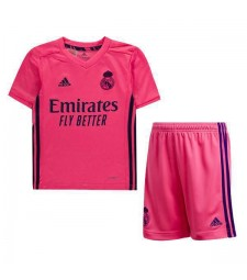 Real Madrid Away Kids Kit Soccer Children Football Match Youth Uniforms 2020-2021