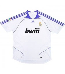 Real Madrid Home Retro Soccer Jersey 2007-2008