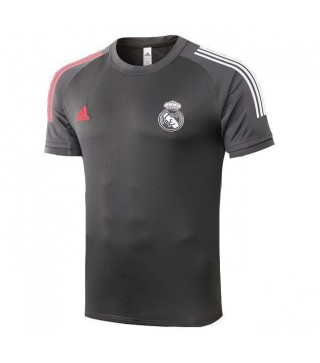 Real Madrid Light Gray Training Soccer Jerseys Mens Football Shirts 2020-2021
