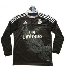 Real Madrid Third Long Sleeve Retro Soccer Jerseys Mens Football Shirts 2014-2015
