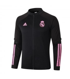 Real Madrid Black Soccer Jacket Football Tracksuit 2020-2021
