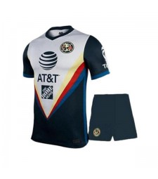 Club America Away Soccer Jerseys Kids Kit Football Shirts Uniforms 2020-2021