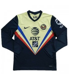 Club America Home Long Sleeve Soccer Jersey Mens Sportwear Football Shirt 2020-2021