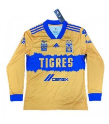Tigres UANL Home Long Sleeve Soccer Jerseys Mens Football Shirts Uniforms 2020-2021