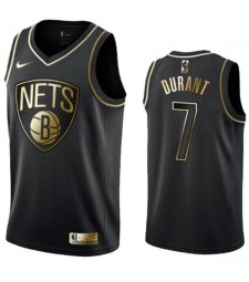 2019 All Star Game Brooklyn Nets 7 Kevin Durant Black Golden Basketball Edition NBA Swingman Jersey