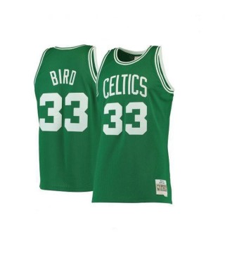 Boston Celtics Larry Bird Mitchell&Ness Kelly 33# Green Hardwood Classics Swingman Jersey 1985-1986
