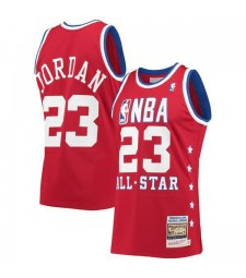 All Star Michael Jordan 23# Red Eastern Conference Hardwood Classics Mitchell Ness Jersey 1989