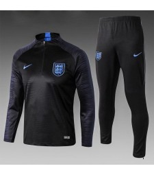 England Kids Black Printed Sleeve Tracksuit 2018/2019