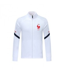 France White Soccer Jacket Red Logo 2019-2020