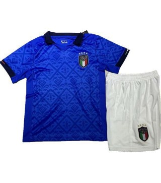 Italy Home Euro Cup 2020 Kids Soccer Kit