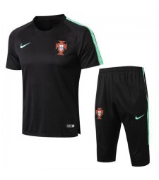 Portugal Men Short Training Suit Kit Black 2018/2019