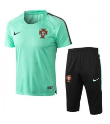 Portugal Men Short Training Suit Kit Green 2018/2019