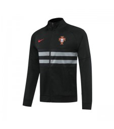 Portugal Mens Football Black Player Version Soccer-Training Jacket 2020-2021