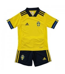 Sweden Home Euro 2020 Kids Football Kit