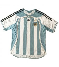 Argentina Retro Home Soccer Jerseys Mens Football Shirts Uniforms 2006
