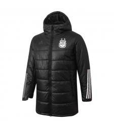 Argentina Soccer Winter Jacket Black Football Cotton Coat 2020-2021