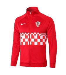 Croatia Red Long Zipper Jacket Tracksuit Sportswear Training Wear 2020-2021