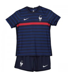 France Home Soccer Jersey Kids Football Kit Youth Uniforms 2020
