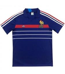 France Retro Home Soccer Jerseys Mens Football Shirts 1984-1986