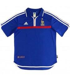 France Retro Home Soccer Jerseys Mens Football Shirts 2000