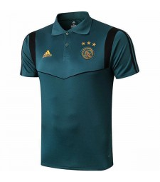 Ajax Mens Soccer Polo Dark Green 2019-2020